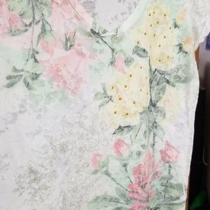 Watercolor rose tee